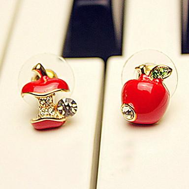 Cercei Stud femei Casual Ștras Diamante Artificiale cercei Bijuterii Rosu / Culoare ecran Pentru Petrecere Aniversare Zi de Naștere Cadou