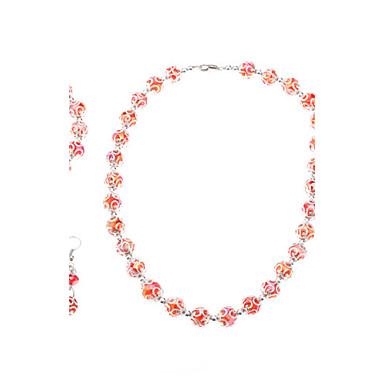 Abaci Pattern Crystal Jewelry Set