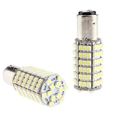 BAY15D 1157 6W 120x3528 SMD White Light LED-lampa för Car Tail / blinkers lampa (12V, 2-pack)