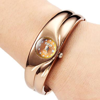 Cuarzo Mujeres aleación reloj pulsera analógico (Bronce)