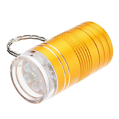 X203 1-Modo 6-LED llavero linterna (2xCR2032, colores surtidos)