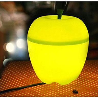 Mini Apple Shaped Green Light Desktop Decoration Lamp (220V)