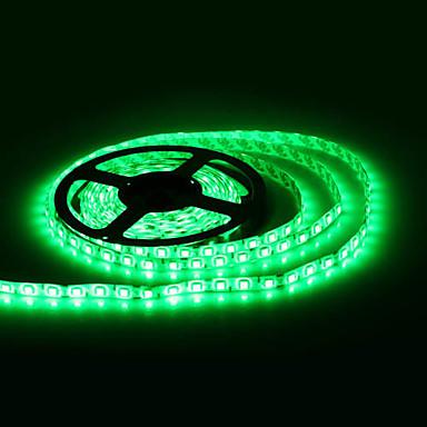 Waterproof 5M 300x5050 SMD Green Light LED Strip Lamp (12V)