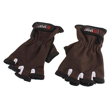 Anti-Skidding Wearproof Short-finger Gloves(Random Color)