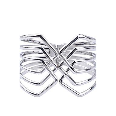 Dames Cuff armbanden Verzilverd Zilver Sieraden Voor Feest Dagelijks Causaal 1 stuks