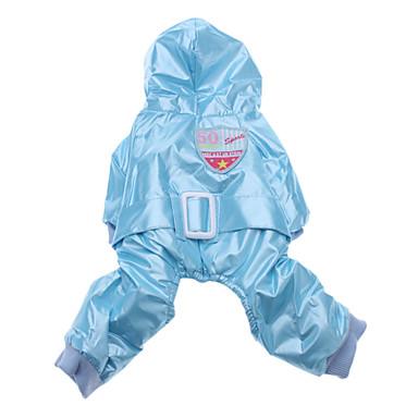 Muodikas Shield Pattern Down takki kanssa housut Koirat Kissat (Sininen, XS-XL)