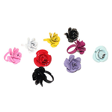 Ajustable Multi-Color Iron Flower Ring (colores surtidos)