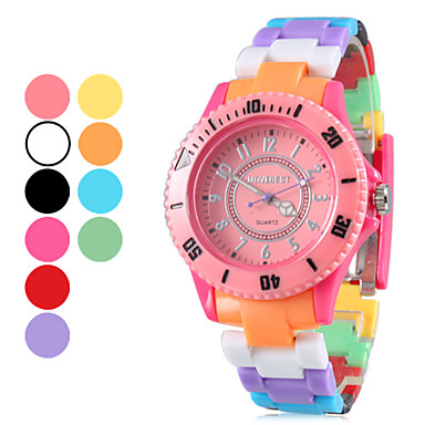 Unisex Plastic Quartz Analog Wrist Watch (Multi-Colored) Cool Watches Unique Watches