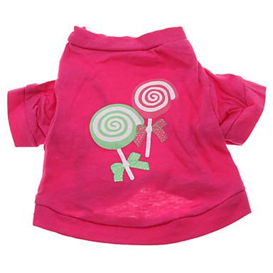 Verano - Rosa Algodón - Camiseta - Perros - XS / M / S / L