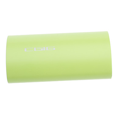 Portable Power Bank with Flashlight for Various Mobile Phone & Products (Green, 4400 mAh)