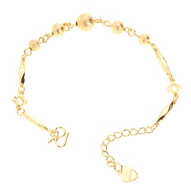 Dull Polish Bead Gold-plated Bracelace