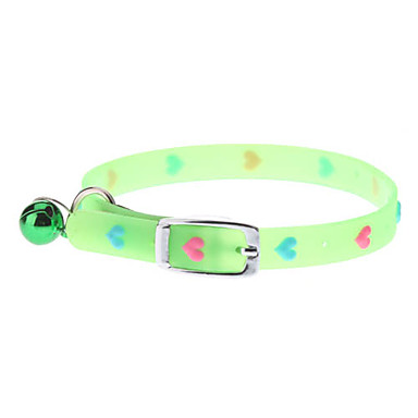 Fluorescent Sweet Heart Adjustable Collar for Cats and Dogs