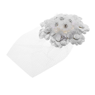Blume Cluster Chiffon Lady Hat Hair Clip für Haustiere
