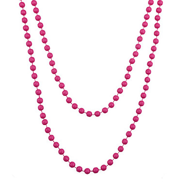 Lureme®8Cm Mot Acrylic Beads Necklace(Assorted Colors)
