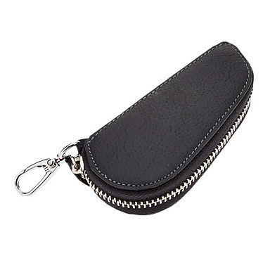 Zippered Leather Key Case for Car