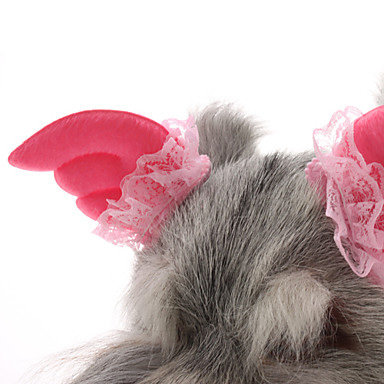 Dual Pink Lace Angel Wind Clips for Pets