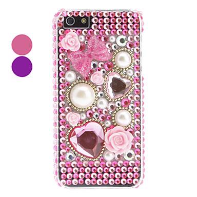 strass cas dur de conception de perles de style pour l'iphone 5/5s