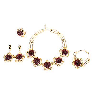 Z&X®  Exquisite Rose Shape Hollow Out Edge Jewelry Set