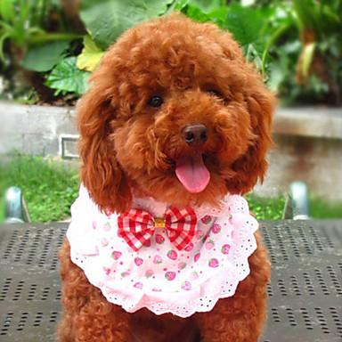 Strawberry Pattern Lacy Style Neckerchief Bandana Saliva Towel for Dogs Cats (S-L)