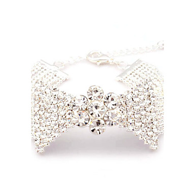 Ultra Wide bowknot STRASS Bead Armband