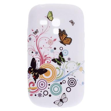 Elegant Butterfly Pattern Soft Case for Samsung Galaxy S3 Mini I8910