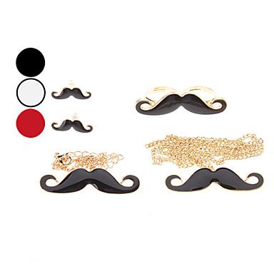 Moustache Anel Brinco Colar e Jogo da jóia Pulseira