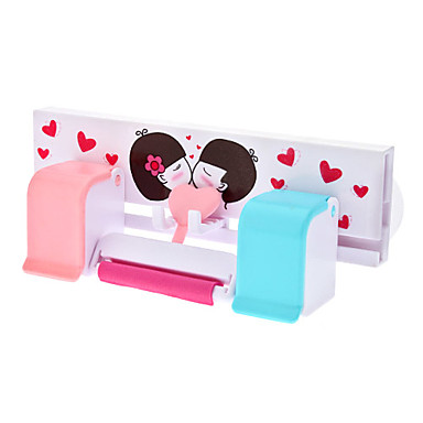 Sweet Lovers Toothbrush Toothpaste Hanging Rack with Suction Cup