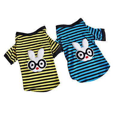 Glasses Rabbit Style Stripe Pattern T-Shirt for Dogs (Assorted Color,S-XXL)