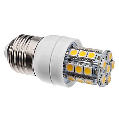 2800 lm E26/E27 LED a pannocchia 27 leds SMD 5050 Bianco caldo CA 220-240 V