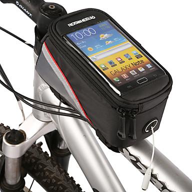 ROSWHEEL Bisiklet Çerçeve Çantaları Cep Telefonu Çanta 4.2 inç Su Geçirmez Fermuar Dahili Ketıl Çantası Toz Geçirmez Telefon/Iphone