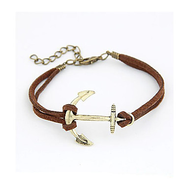Personality Flash Rhinestones Anchor Bracelet