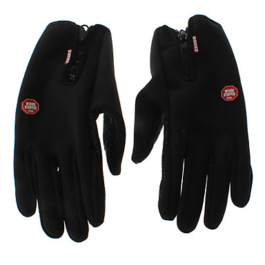 WINDSTOPPER Black Warm-keeping/Windproof Touch Screen Cycling Gloves