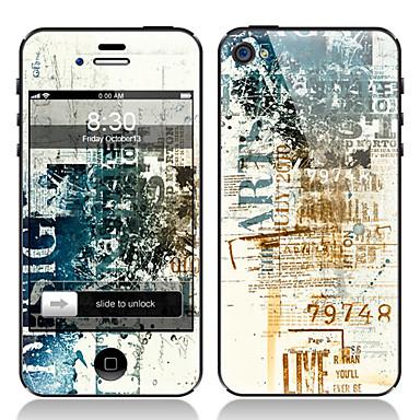 iphone 4/4s için Retro tasarım ön ve arka ekran koruyucu film