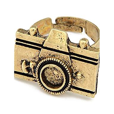 Alloy Vintage Camera Pattern Open Ring