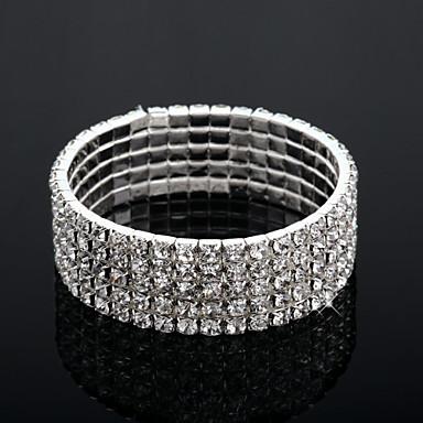 Pentru femei Transparent Brățări Bangle Multistratificat Modă Multistratificat Aliaj Bijuterii brățară Argintiu Pentru Nuntă Logodnă Cadou