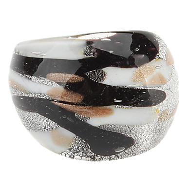 Women's Classic Ink Colored Glaze Ring