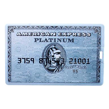8GB USB-Stick blau Karte american express eingegeben
