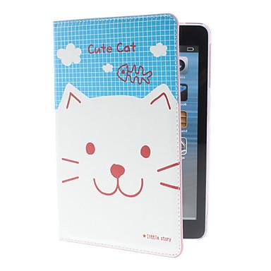 Cute Kitten Mønster PU Læder taske med holder til iPad mini