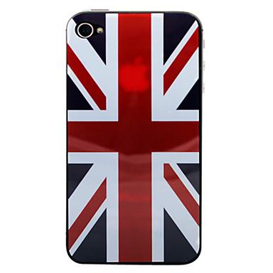 UK Flag Pattern Crystal Beskyttende film for iPhone 4/4S