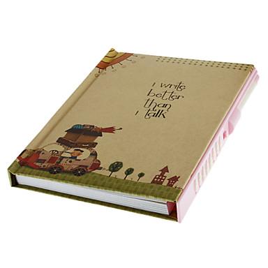 Coded Lock Diary Hardcover Notebook (Random Pattern)