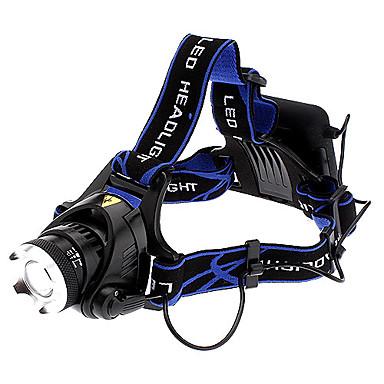 Lanterne LED Frontale LED Cree® XM-L T6 1 emițători 1000 lm 3 Mod Zbor Focalizare Ajustabilă Camping / Cățărare / Speologie Ciclism