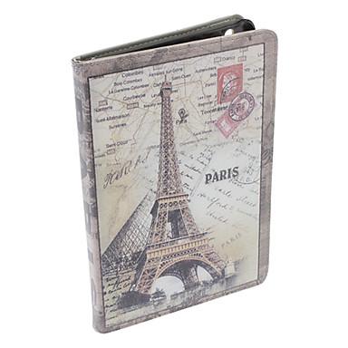 Eiffelturm-Muster PU-Leder Ganzkörper-Case mit Ständer für iPad mini