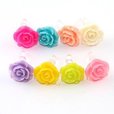 Joyland Pure Color Rose Anti-Dust Earphone Jack (Assorted Color) DIY for iPhone 8 7 Samsung Galaxy s8 s7
