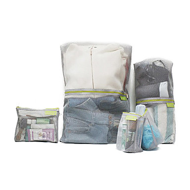 Portable Mesh Style Storage Bag Set for Travel (4-Piece)