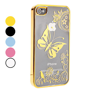 Butterfly Pattern Hard Case for iPhone 4/4S (Assorted Colors)