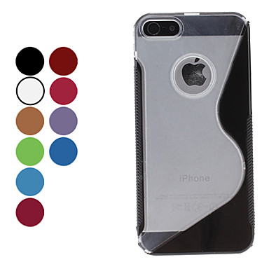 custodia rigida forma elegante s per il iphone 5/5s (colori assortiti)