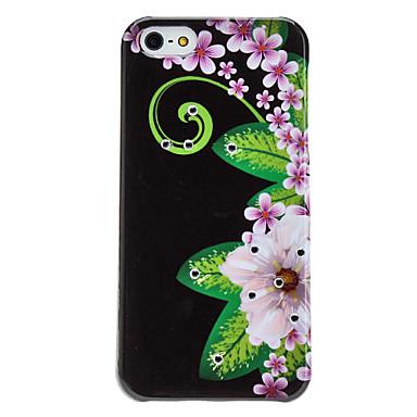 Rhinestone Design Flower Pattern=Hard Case for iPhone 5/5S