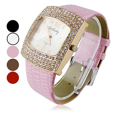Place Zircon mode montre-bracelet à quartz analogique de la femme (couleurs assorties)