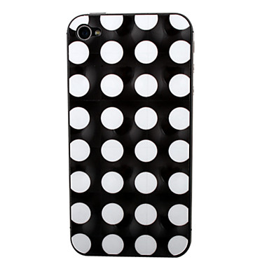 White Dot Pattern Front and Back Screen Protector for iPhone 4/4S