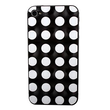 Hvit Dot Mønster foran og bak skjermbeskytter for iPhone 4/4S